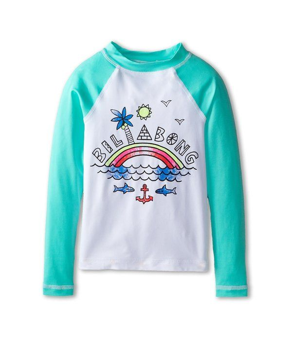 [ビラボン] Billabong Kids ガールズ Rainbow Spot L/S Rashguard (Little Kids/Big Kids) 水着 Seafoam 6X Little Kids [並行輸入品]