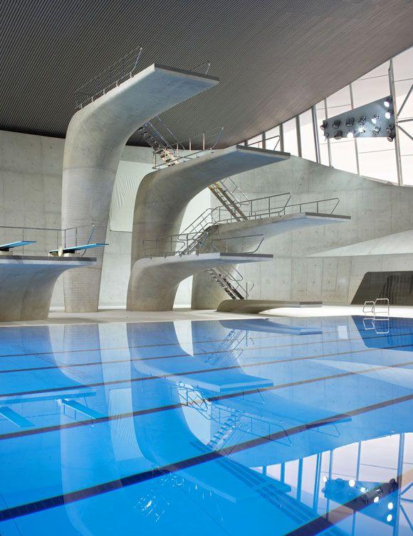 JA+U : London Aquatics Centre by Zaha Hadid Architects: Diving Board, London Olympic, London 2012, Zaha Hadid Architects, Aquatics Centre, Architecture, Zahahadid