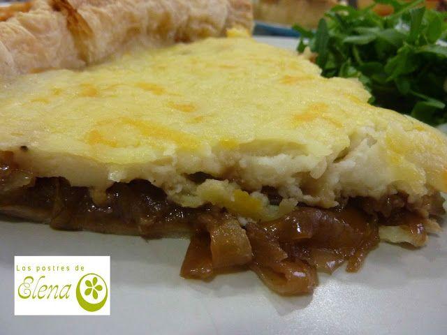 Los Postres de Elena: Tarta de cebolla. http://www.lospostresdeelena.com/2017/02/tarta-de-cebolla.html #Cocina #Tenerife #Canarias #España #Vegetariano