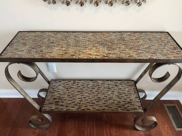 CONSOLE TABLE SOFA ENTRY WAY PIER 1 AMBER MOSAIC TABLE LIKE NEW |  WEu0027veMOVed! | Pinterest | Console Tables And Consoles
