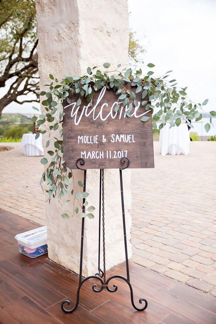Rustic Lakeside Wedding - welcome sign