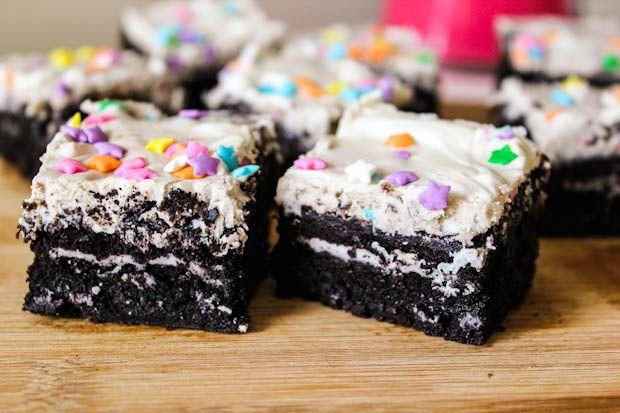 fudgy cookies n cream oreo browniesCake, Sugar Cookies Bar, Oreo Brownies, Baking Addict, Cream Brownies, Cream Oreo, Sally Baking, Fudgy Cookies, Sweets Tooth
