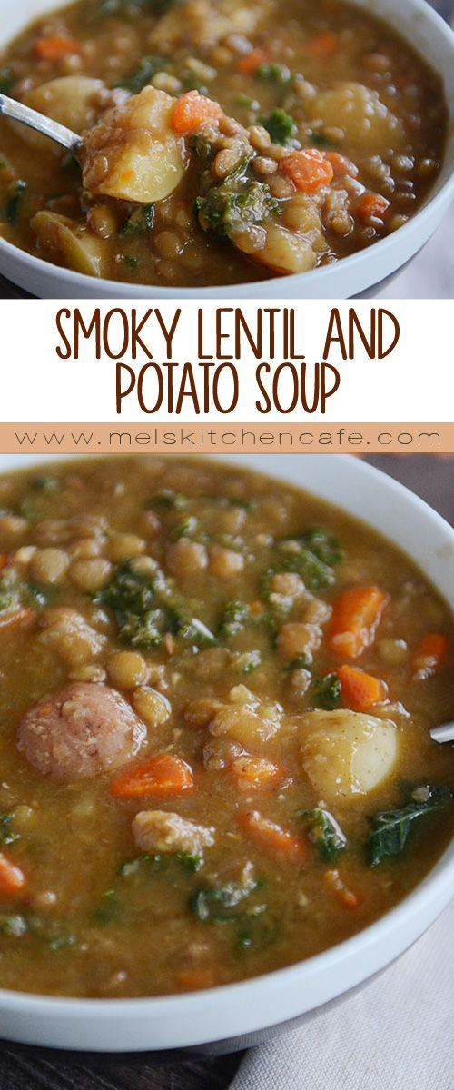 Smoky Lentil and Potato Soup! {Pressure Cooker or Stovetop}
