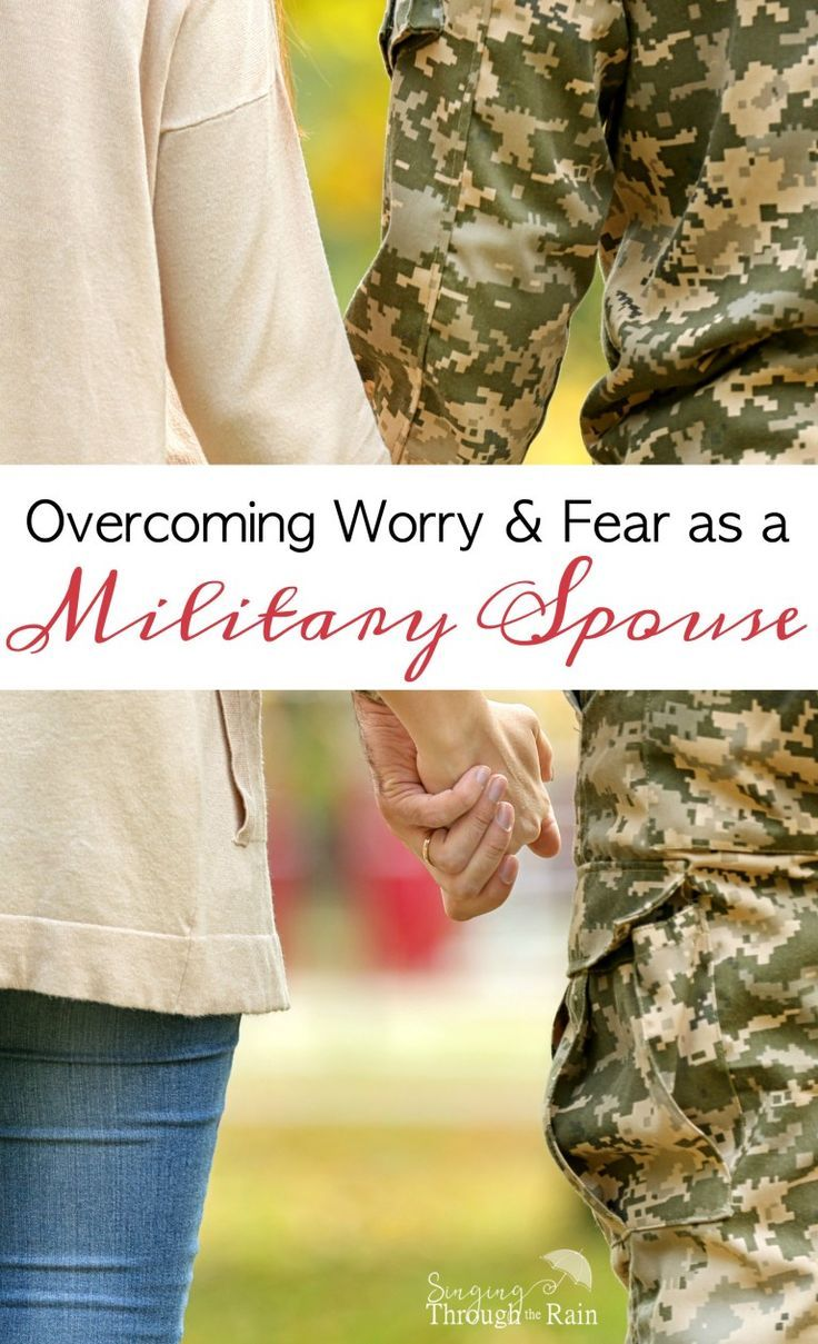 Worry and fear may be a daily occurrence as a military spouse, but they don't have to be!