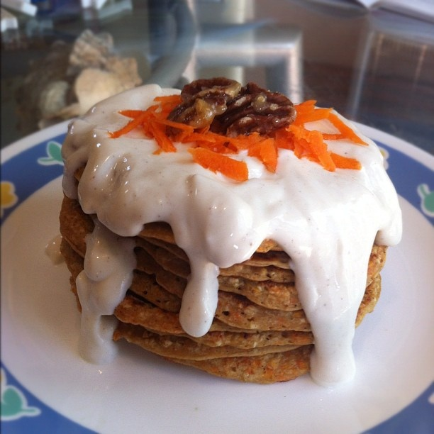 Carrot Cake Protein Pancakes | Fit and Healthy | Pinterest