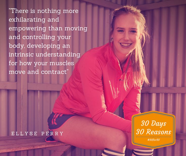 Day 3, Reason 3: Today's reason comes from dual international Australian sportswoman, Ellyse Perry! #30for30 #reasonstoexercise #day3 #reason3 #ellyseperry