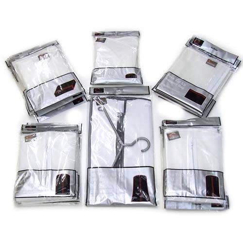 The CaraselleDirect Peva Pack. Peva is a lightweight & robust fabric that is made to our specification. Translucent to show the garment hanging inside. Moth resistant garment protectors. Peva fabric is sponge-able & biodegradable.  Our Household Peva Pack contains 6 different really useful garment protectors for use around the home http://www.caraselledirect.com/_/peva_pack_-_garment_covers.1353-1  #clothesprotector #mothsresistant #garmentcovers
