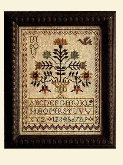 """A Sister's Garden Sampler"" Cross Stitch Pattern by LA D DA"