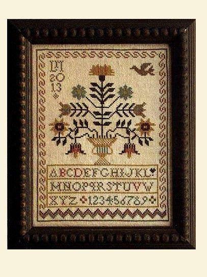 """A Sister's Garden Sampler"" Cross Stitch Pattern by LA D DA"