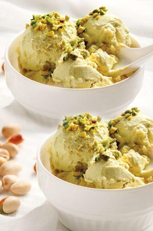 Παγωτό με φιστίκια Αιγίνης και μαστίχα