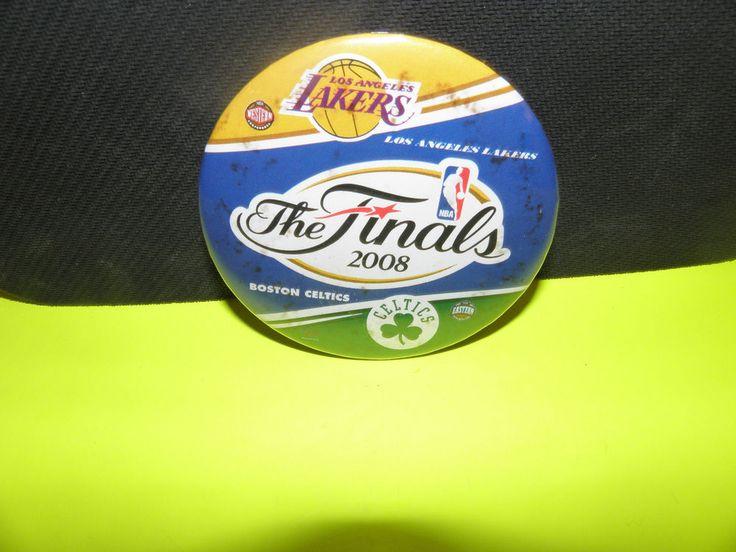 NBA 2008 THE FINALS- BOSTON CELTICS VS. LA LAKERS LOGO BUTTON