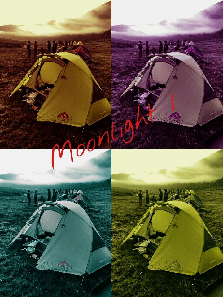 Solo tent Moonlight 1, light weight easy to set up and comfy.