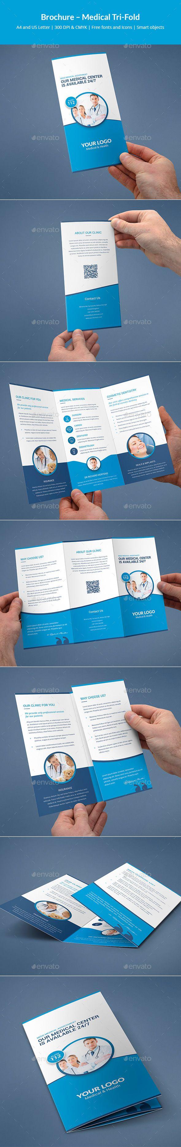 Medical Tri-Fold Brochure Template PSD