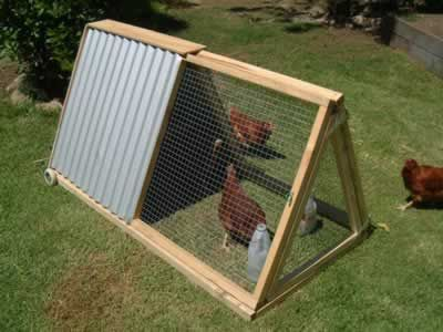 not my favorite design for a chicken coop, but it is mobile, which is what we'd like to have...