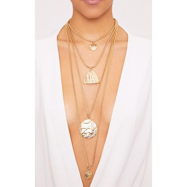 Verity Gold Chunky Layered Necklace (£8) ❤ liked on Polyvore featuring jewelry, necklaces, yellow, adjustable gold necklace, yellow gold necklace, yellow jewelry, yellow chunky necklace and chunky gold necklace
