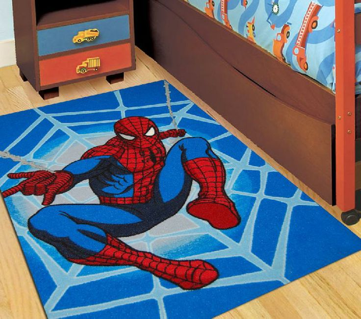 Kids Rugs, Blue Rugs, Spiderman, Boy Beds, Superhero Room, Bedroom Rugs,  Man Room, Super Hero Shirts, Rug Ideas