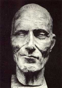 "Julius Ceasar - death mask, oh , the smirk, it's almost like "" yeah, I knew it"" ha!"