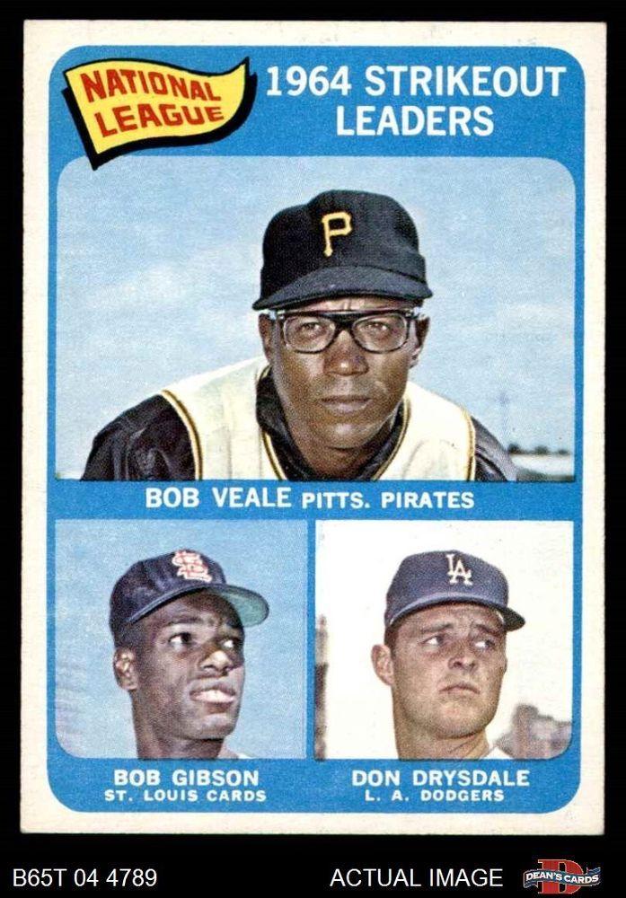 1965 Topps #12  Bob Veale / Don Drysdale / Bob  Dodgers / Cardinals / Pirates NM