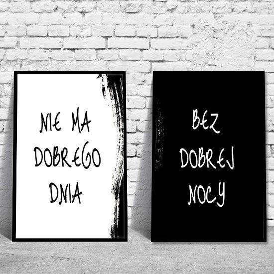 Nie ma dobrego dnia bez dobrej nocy - plakat, obraz, grafika