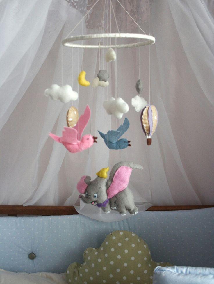 Disney nursery, crib, felt mobile, by lera @rosesonthestone