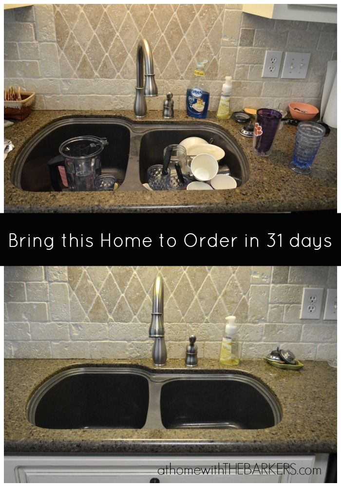 31 Days to Bring this Home to Order~ Clean the Sink #organization #cleaning #homedecor