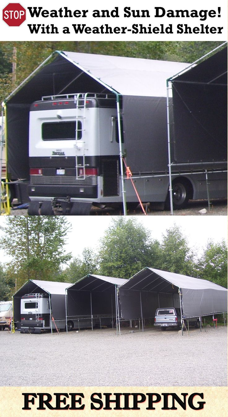 Make-Your-Own Portable Carport Shelter **Long Lasting Heavy Duty Covers for MotorHome, 5th Wheel, RV, Trailer, Boat, Truck **Kits do not include pipes **Prices from $697. **See: http://www.hiscoshelters.com/ **Come check out our website explore what we