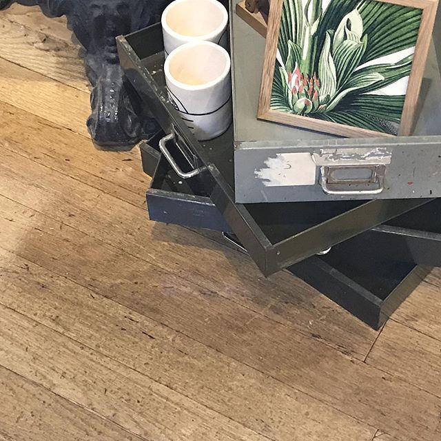If you're out and about today, it's always worth looking down.  Restaurants and shops are an endless source of interior design inspiration.  Look what we spotted in Liberty's in London