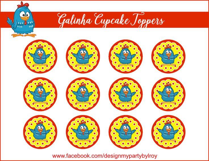 GALINHA PINTADINHA TOPPERS, Galinha Cupcake Toppers, Galinha Party Decor, Galinha Party Favors, Instant Download,Farm Decor,Barn Decoration. by DMYPARTY on Etsy https://www.etsy.com/listing/459099554/galinha-pintadinha-toppers-galinha