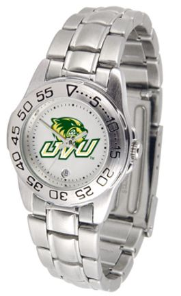 Utah Valley State (UVSC) Wolverines Gameday Sport Ladies' Watch with a Metal Band