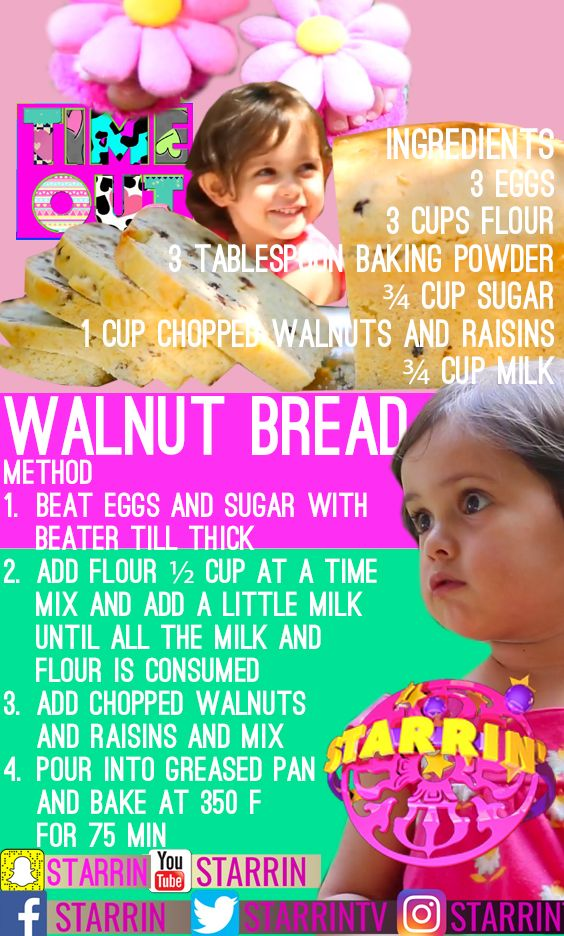 Recipes from the hit show #TimeOutDaria on the YouTube Channel Starrin #organic #legacy Daria's grandma's legacy recipes passed down through the generations. catch the best baking recipes this season and healthy snacks, drinks and fruit art. #mango #brownies #cupcakes #spongecake #healthysnacks #organic #love #food #fitness #yoga #recipe #divine #baking #Daria @starrintv #joy #bonding #parenting #cook #creative #arts #toddler #kids #walnuts #walnutbread #healthy