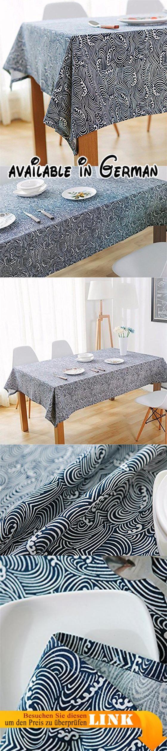 HOMEE Europäische kreative Ozean Ripple Muster blau Leinen Tischdecken Retro minimalistischen Haushalt Staub Tuch Weihnachtsschmuck,140X200cm. Material: Stoff. Mit hochwertigen Materialien, Sicherheit, Umweltschutz-Farbstoffe. Wenn es Öl gibt, bitte rechtzeitig wischen, die Heiztemperatur ist nicht mehr als 80 Grad Celsius. Nicht verblassen, Naturfaser, umweltfreundlich, kohlenstoffarm. Kann bei niedriger Temperatur gewaschen werden, verlängertes Eintauchen vermeiden #Home