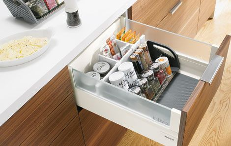 Blum - Practical cabinets solutions for bottles & spices