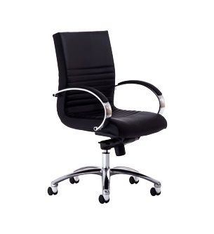 The Boss Executive High Back Chair features a unique Back ribbing in the Lumbar region and an active moving back design. Available at seated.com.au