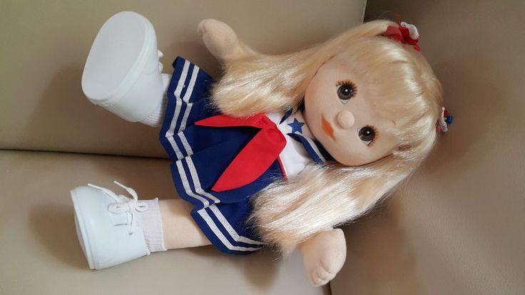 Vintage Poupée My Child Doll Mattel 1985 EU My Child Blonde Straight Ponytails