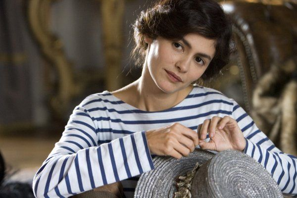 I love French boatneck shirts! (Audrey Tautou in Coco Before Chanel)