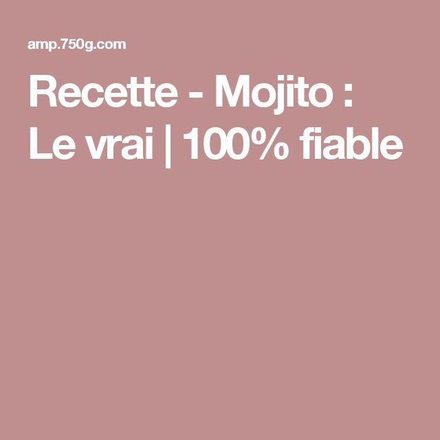 Recette - Mojito : Le vrai | 100% fiable