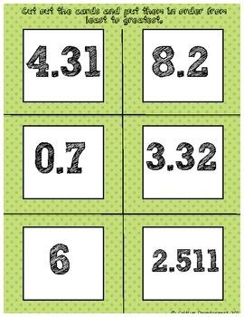 Ordering Decimals Sort: Decimals Ratio Percentage, Ordering Decimals, Fractions Decimals Percents, Decimals Sort, Inb Decimals, Decimals Fractions, Decimals Greatest, Comparing Decimals, Decimals Activity