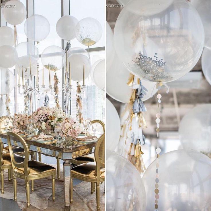 Для свадебного зала не подойдут яркие разноцветные цвета шаров, которые мы привыкли видеть на детских праздниках. Украшения на свадьбу должны выглядеть изысканно, гармонично. Чтобы добиться этого, подберите правильную цветовую гамму согласно концепции свадьбы – хватит двух-трех цветов, например, розового и белого, лимонного или салатового. Если в украшении всего зала преобладает акцентирующий цвет, используйте его для воздушного декора.  #WSDecor #WowSpaceDECOR #wowspace #weddingdecor…