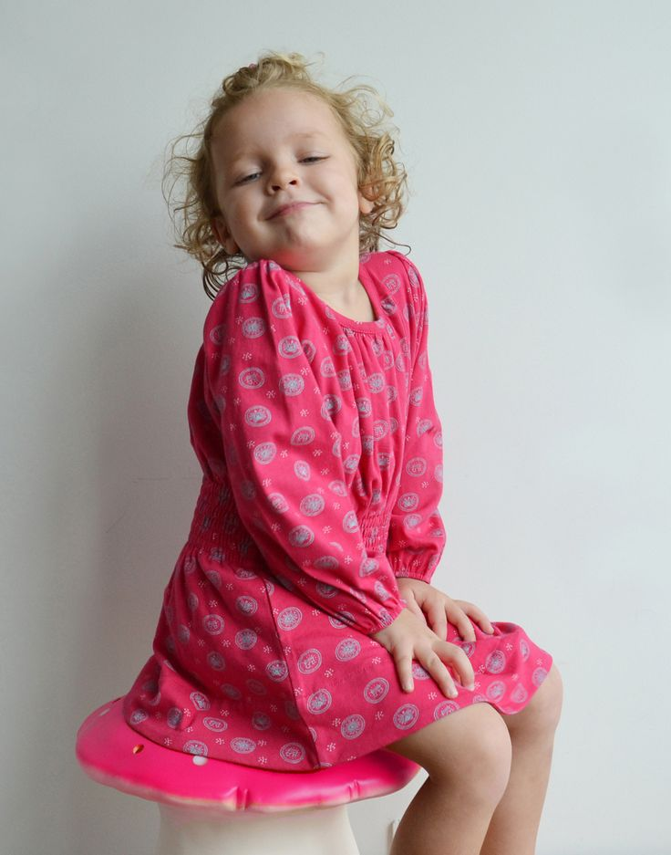 WINTER COLLECTION / La Queue Du Chat / Fushia Dress / Nice colours and french prints in the new kids collection. www.littlefrenchy.com.au #french #girl #dress #laqueueduchat #new #winter #littlefrenchy