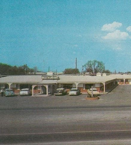 Al Sullivan Restaurant - Murfreesboro Motel - Cropped from postcard