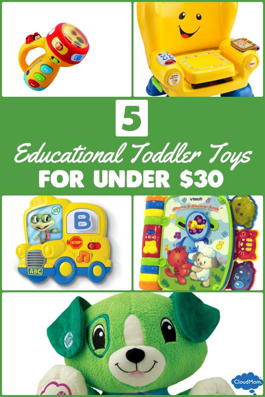 Looking for ideas for your toddler this holiday shopping season? Here's a list of educational toddler toys that won't break the bank! 5 Educational Toddler Toys under $30