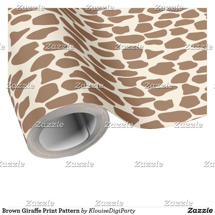 Brown Giraffe Print Pattern Wrapping Paper