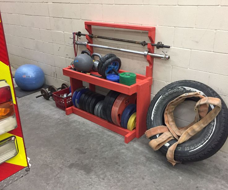 DIY Weight and Barbell Storage Rack