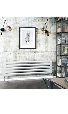 DQ Heating Drifter Horizontal Designer Radiator   White