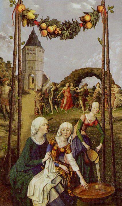 Four of Wands - Golden Tarot by Kat Black
