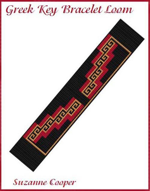 Greek Key Beaded Bracelet Loom Pattern at Bead-Patterns.com