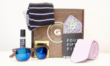 Unbox curated selection of 4-6 hand-chosen wardrobe and grooming items, all surrounding a monthly theme; one-year GQ subscription included