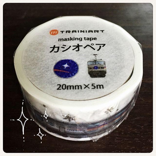 WEBSTA @ fujiko0707 - #TRAINIART #マスキングテープ 「#カシオペア 」。背景に銀箔で雪の結晶が…!#紙鉄 #子鉄 #ママ鉄 #鉄道グッズ