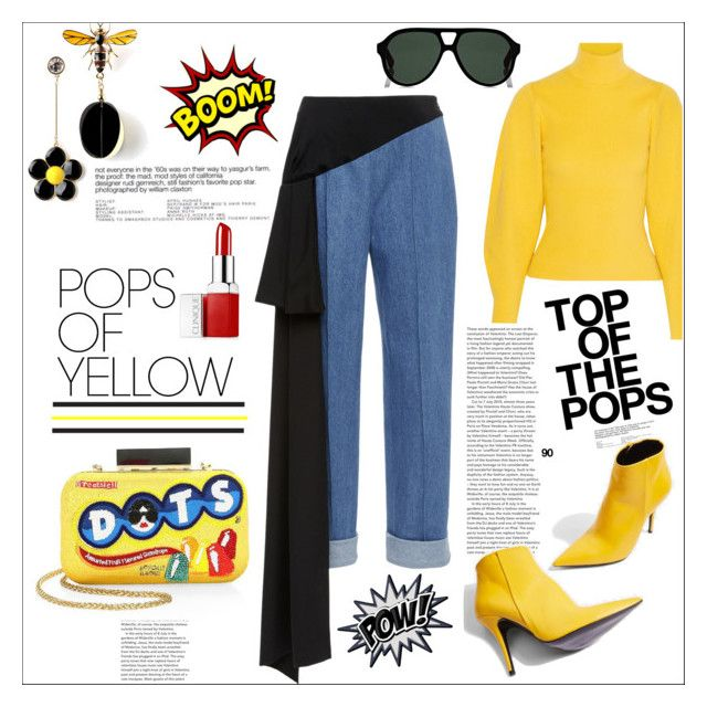 """""""Yellow...."""" by nihal-imsk-cam ❤ liked on Polyvore featuring Alice + Olivia, Thierry Mugler, Pôdevache, Clinique, Gucci, Topshop, yellow, gethappy, polyvoreeditorial and polyvorecontest"""