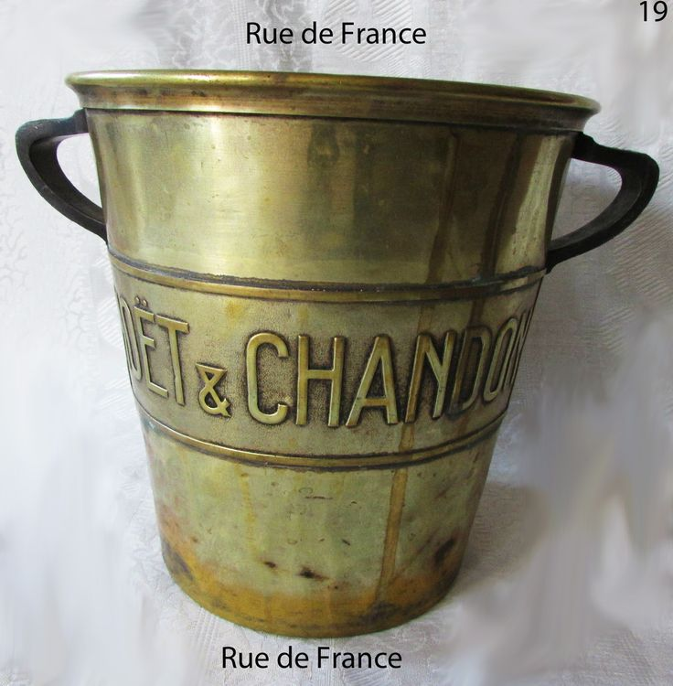 Art Deco French champagne bucket by Moet and Chandon